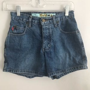 Mudd Vtg Blue Jean Shorts With Button Fly